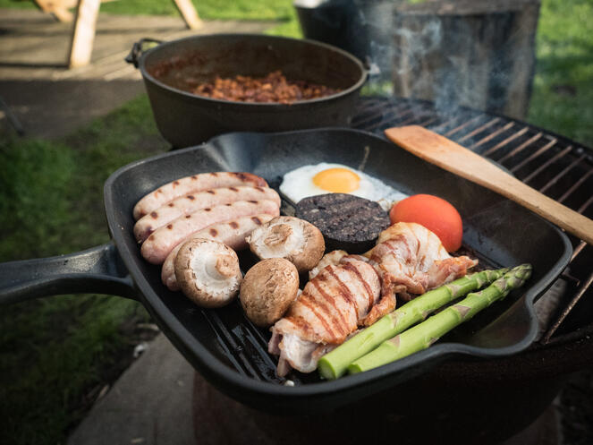 Campfire Cooked Breakfast