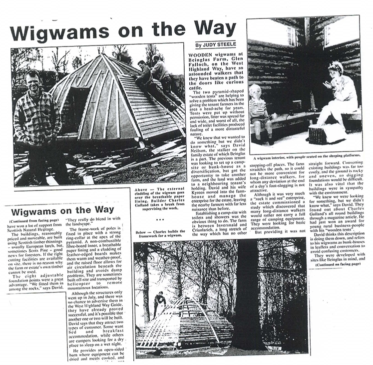 Wigwams-Newspaper